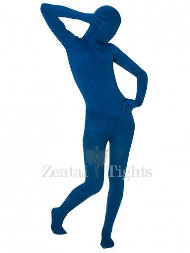 Navy Blue Velvet Unisex Morph Suit Zentai Suit