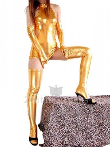 Cheap Cool Gold Shiny Metallic Sexy Dress