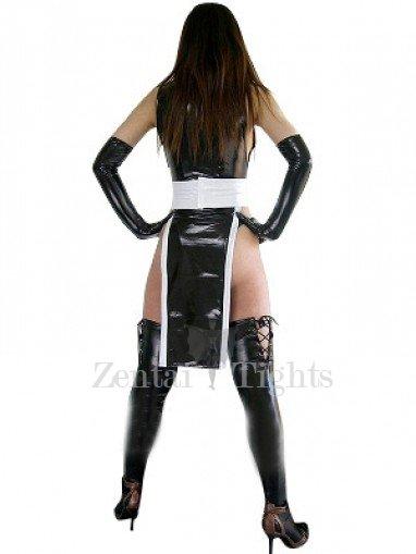 Cool Unusual Black Shiny Metallic Sexy Dress