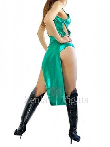 Cheap Green Shiny Metallic Sexy Dress