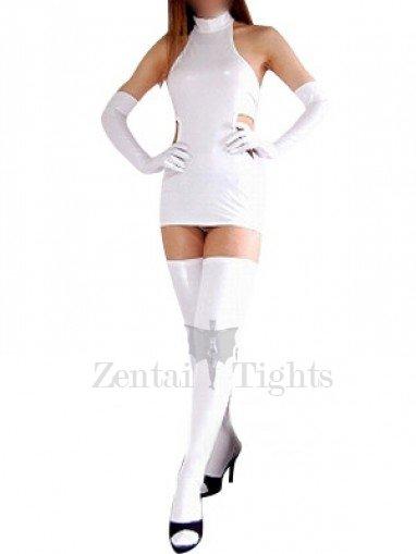 Cheap White Shiny Metallic Sexy Dress