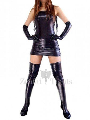 Suitable Cheap Black Shiny Metallic Sexy Dress