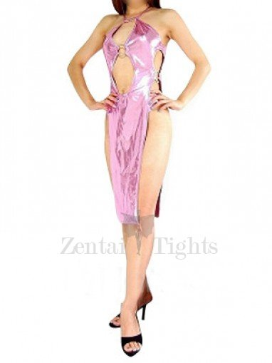 Top Pink Shiny Metallic Sexy Dress