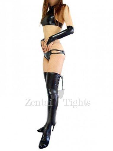 Ideal Black Shiny Metallic Sexy Costume