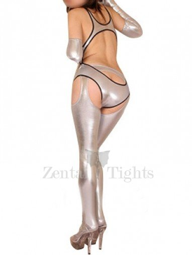 Silver Shiny Metallic Sexy Three-Set Costume