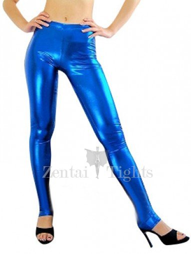 Blue Shiny Metallic Sexy Trousers