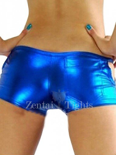 Blue Shiny Metallic Sexy Bottom