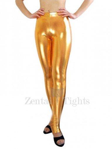 Gold Shiny Metallic Sexy Trousers