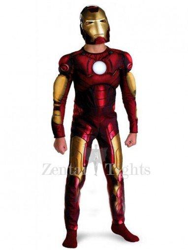 Iron Man Shiny Metallic Super Hero Cost