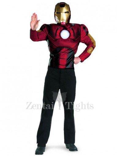 Iron Man Shiny Metallic Super Hero Costume