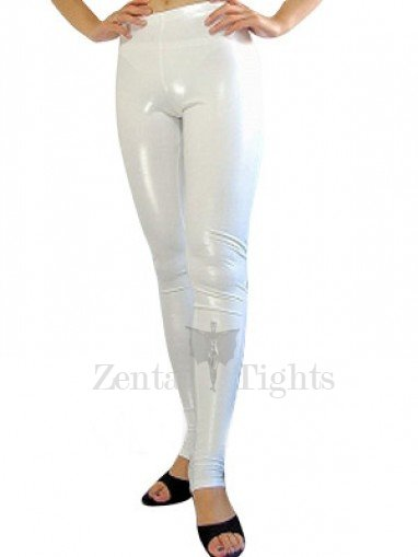 White Shiny Metallic Sexy Trousers