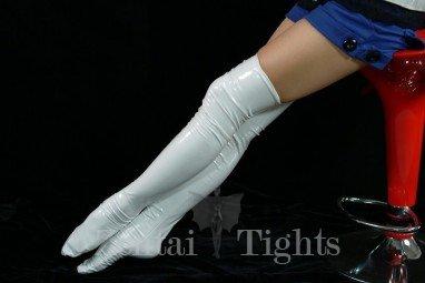 ZENTAI White PVC Stockings