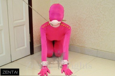 Full Body Morph Suit Zentai Tights Tights Red Fluorescence Pink Shoulder Hit Color Rivet Morph Suit Zentai Suit Morph Suits