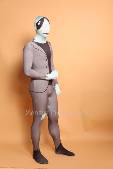 Silver Grey Full Body Halloween Spandex Holiday Unisex Cosplay Zentai Suit