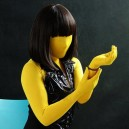 Classic Yellow Lycra Spandex Unisex Morph Suit Zentai Suit