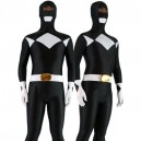 Supply Black with White Lycra Spandex Unisex Morph Suit Zentai Suit