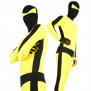 Supply Black with Yellow Lycra Spandex Unisex Morph Suit Zentai Suit