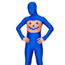 Blue And Orange Lycra Spandex Morph Suit Zentai Suit