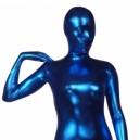 Supply Blue Shiny Metallic Morph Suit Zentai Suit