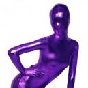 Purple Shiny Metallic Morph Suit Zentai Suit