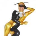 Yellow And Black Shiny Metallic Unisex Morph Suit Zentai Suit
