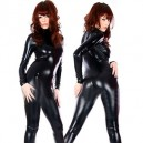 Supply Shiny Black Catsuit