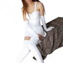 Unusual White Shiny Metallic Sexy Dress