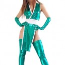 Supply Cheap Green Shiny Metallic Sexy Costume