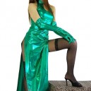 Classic Green Shiny Metallic Sexy Dress