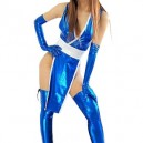 Supply Ideal Blue Shiny Metallic Sexy Costume