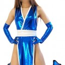 Ideal Blue Shiny Metallic Sexy Costume