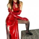Perfect Classic Red Shiny Metallic Sexy Dress
