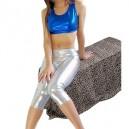 Sleeveless Shiny Metallic Suit