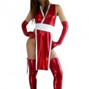 Supply Unusual Red Shiny Metallic Sexy Dress
