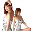 Supply Shiny Metallic Silver Chemise