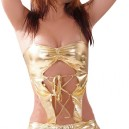 Supply Unusual Gold Shiny Metallic Sexy Costume