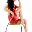 Unusual Red Shiny Metallic Half Length Sleeveless Unisex Catsuit
