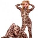 Leopard Lycra Spandex Catsuit