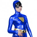 Purple Shiny Metallic Super Hero Costume