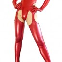 Red Shiny Metallic Sexy Bumbum Costume(G-String&Bumbum Trousers)
