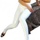 White Shiny Metallic Sexy Trousers