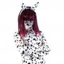 Black Dot Lycra Spandex Unisex Morph Suit Zentai Catsuit with Tail