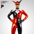 Harley Quinn Shiny Metallic Morph Suit Zentai Suit