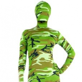 Full Body Morph Suit Zentai Tights Green Soldier Camouflage Morph Suit Zentai suit