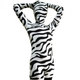 Full Body Morph Suit Zentai Tights Zebra Pattern Spandex  Morph Suit Zentai Suit