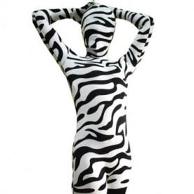 Full Body Morph Suit Zentai Tights Zebra Pattern Spandex  Morph Suit Zentai Suit