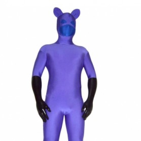 Purple Blue Spandex Unisex Morph Suit Zentai Catsuit