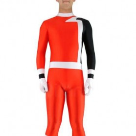 Red with Black Lycra Spandex Unisex Morph Suit Zentai Suit