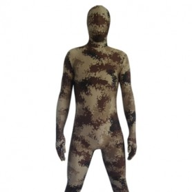 Desert Camouflage Lycra Spandex  Morph Suit Zentai Suit