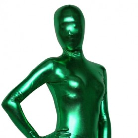Green Shiny Metallic Morph Suit Zentai Suit